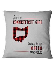 JUST A CONNECTICUT GIRL IN AN OHIO WORLD Square Pillowcase thumbnail