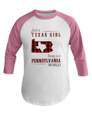 JUST A CALIFORNIA GIRL IN A NEW YORK WORLD Baseball Tee thumbnail
