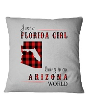 JUST A FLORIDA GIRL IN AN ARIZONA WORLD Square Pillowcase tile