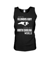 JUST AN ILLINOIS GUY IN A NORTH CAROLINA WORLD Unisex Tank tile