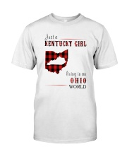 JUST A KENTUCKY GIRL IN AN OHIO WORLD Classic T-Shirt tile