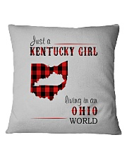 JUST A KENTUCKY GIRL IN AN OHIO WORLD Square Pillowcase thumbnail