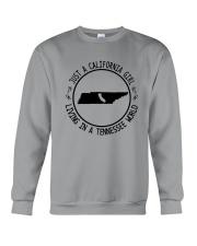 CALIFORNIA GIRL LIVING IN TENNESSEE WORLD Crewneck Sweatshirt thumbnail