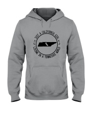 CALIFORNIA GIRL LIVING IN TENNESSEE WORLD Hooded Sweatshirt front