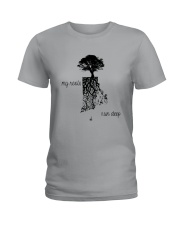 RHODE ISLAND MY ROOTS RUN DEEP Ladies T-Shirt front