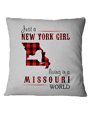 JUST A NEW YORK GIRL IN A MISSOURI WORLD Square Pillowcase thumbnail