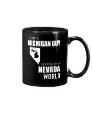 JUST A MICHIGAN GUY IN A NEVADA WORLD Mug thumbnail