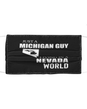 JUST A MICHIGAN GUY IN A NEVADA WORLD Cloth face mask thumbnail