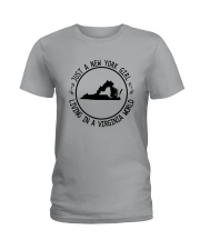 NEW YORK GIRL LIVING IN VIRGINIA WORLD Ladies T-Shirt thumbnail