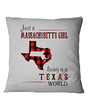 JUST A MASSACHUSETTS GIRL IN A TEXAS WORLD Square Pillowcase thumbnail
