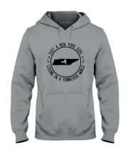 NEW YORK GIRL LIVING IN TENNESSEE WORLD Hooded Sweatshirt front