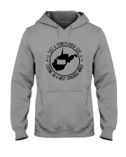 PENNSYLVANIA GIRL LIVING IN WEST VIRGINIA WORLD Hooded Sweatshirt front