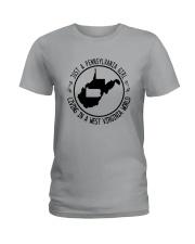 PENNSYLVANIA GIRL LIVING IN WEST VIRGINIA WORLD Ladies T-Shirt thumbnail
