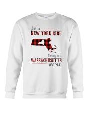 JUST A NEW YORK GIRL IN A MASSACHUSETTS WORLD Crewneck Sweatshirt thumbnail