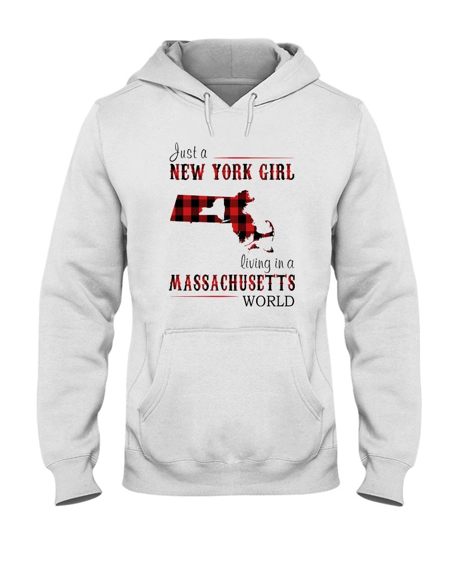 JUST A NEW YORK GIRL IN A MASSACHUSETTS WORLD Hooded Sweatshirt