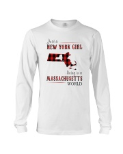 JUST A NEW YORK GIRL IN A MASSACHUSETTS WORLD Long Sleeve Tee thumbnail