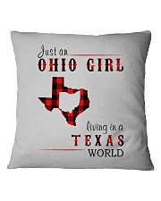 JUST AN OHIO GIRL IN A TEXAS WORLD Square Pillowcase thumbnail