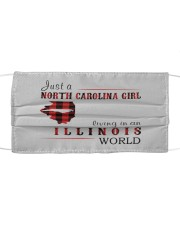 JUST A NORTH CAROLINA GIRL IN AN ILLINOIS WORLD Cloth face mask thumbnail