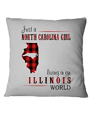 JUST A NORTH CAROLINA GIRL IN AN ILLINOIS WORLD Square Pillowcase thumbnail