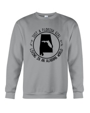 FLORIDA GIRL LIVING IN ALABAMA WORLD Crewneck Sweatshirt thumbnail