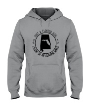FLORIDA GIRL LIVING IN ALABAMA WORLD Hooded Sweatshirt front