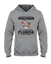 LIVE IN WISCONSIN BUT I'LL HAVE FLORIDA IN MY DNA Hooded Sweatshirt thumbnail
