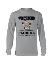 LIVE IN WISCONSIN BUT I'LL HAVE FLORIDA IN MY DNA Long Sleeve Tee thumbnail