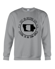 ARIZONA GIRL LIVING IN IOWA WORLD Crewneck Sweatshirt thumbnail