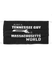 JUST A TENNESSEE GUY IN A MASSACHUSETTS WORLD Cloth face mask thumbnail