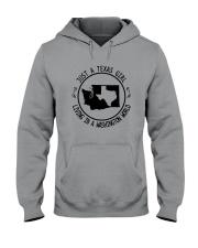 TEXAS GIRL LIVING IN WASHINGTON WORLD Hooded Sweatshirt front