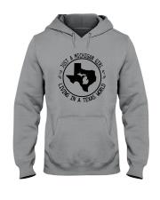 MICHIGAN GIRL LIVING IN TEXAS WORLD Hooded Sweatshirt front