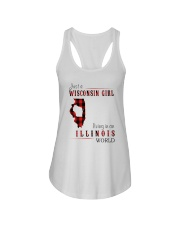JUST A WISCONSIN GIRL IN AN ILLINOIS WORLD Ladies Flowy Tank thumbnail