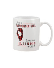 JUST A WISCONSIN GIRL IN AN ILLINOIS WORLD Mug thumbnail