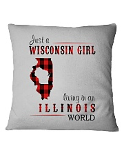 JUST A WISCONSIN GIRL IN AN ILLINOIS WORLD Square Pillowcase thumbnail