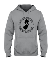 CALIFORNIA GIRL LIVING IN NEW JERSEY WORLD Hooded Sweatshirt front