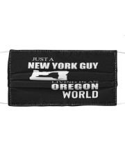 JUST A NEW YORK GUY IN AN OREGON WORLD Cloth face mask thumbnail
