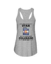 LIVE IN UTAH BUT I'LL HAVE COLORADO IN MY DNA Ladies Flowy Tank thumbnail