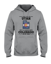 LIVE IN UTAH BUT I'LL HAVE COLORADO IN MY DNA Hooded Sweatshirt thumbnail