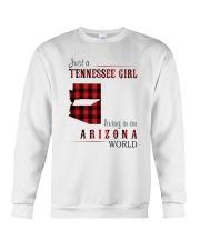 JUST A TENNESSEE GIRL IN AN ARIZONA WORLD Crewneck Sweatshirt thumbnail