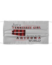 JUST A TENNESSEE GIRL IN AN ARIZONA WORLD Cloth face mask thumbnail