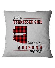 JUST A TENNESSEE GIRL IN AN ARIZONA WORLD Square Pillowcase thumbnail