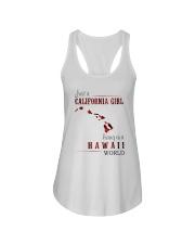JUST A CALIFORNIA GIRL IN A HAWAII WORLD Ladies Flowy Tank thumbnail
