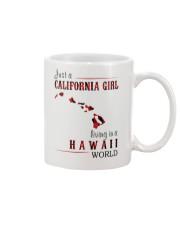 JUST A CALIFORNIA GIRL IN A HAWAII WORLD Mug thumbnail