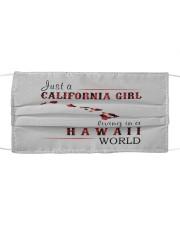 JUST A CALIFORNIA GIRL IN A HAWAII WORLD Cloth face mask thumbnail