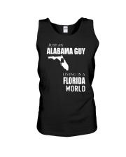 JUST AN ALABAMA GUY IN A FLORIDA WORLD Unisex Tank thumbnail