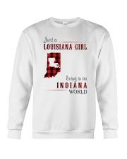JUST A LOUISIANA GIRL IN AN INDIANA WORLD Crewneck Sweatshirt thumbnail