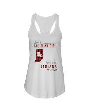 JUST A LOUISIANA GIRL IN AN INDIANA WORLD Ladies Flowy Tank thumbnail