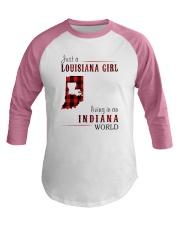 JUST A LOUISIANA GIRL IN AN INDIANA WORLD Baseball Tee thumbnail