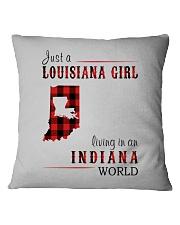 JUST A LOUISIANA GIRL IN AN INDIANA WORLD Square Pillowcase thumbnail
