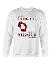 JUST A GEORGIA GIRL IN A WISCONSIN WORLD Crewneck Sweatshirt thumbnail